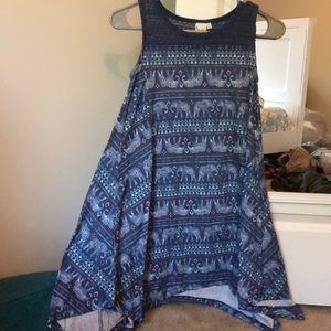 Elephant Blue Dress W/Crochet